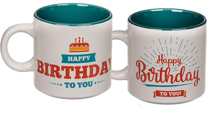 Becher, Happy Birthday Blau