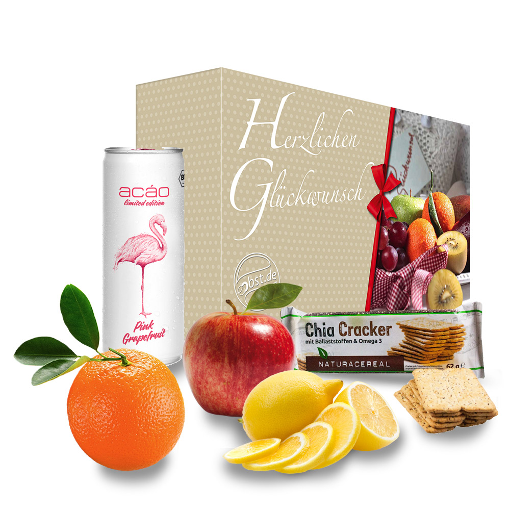 Die 'Herzlichen Glückwunsch' Grapefruit Energiebox