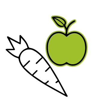 Wähle deinen Favoriten: Obst, Gemüse oder Mix