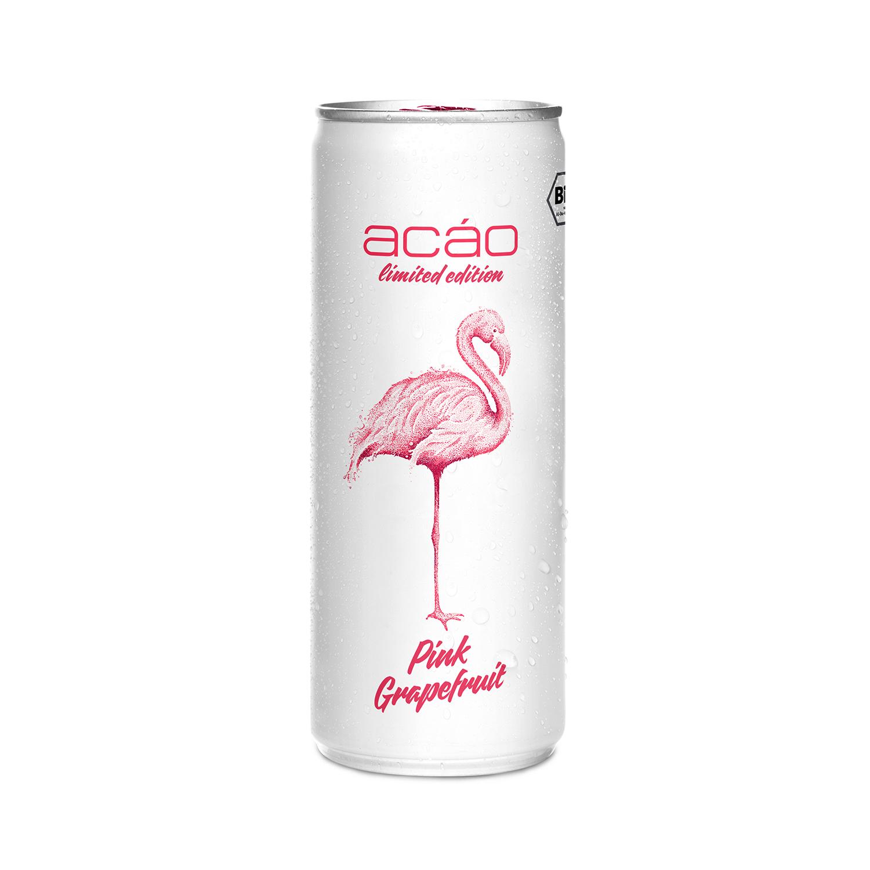 Dose acáo Bio Erfrischungsgetränk Pink Grapefruit, 250ml